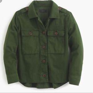 J. Crew Green Garment Dyed Safari Oversized Jacket
